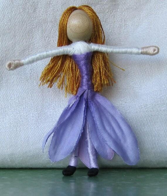 Purple  Daisy Flower Fairy