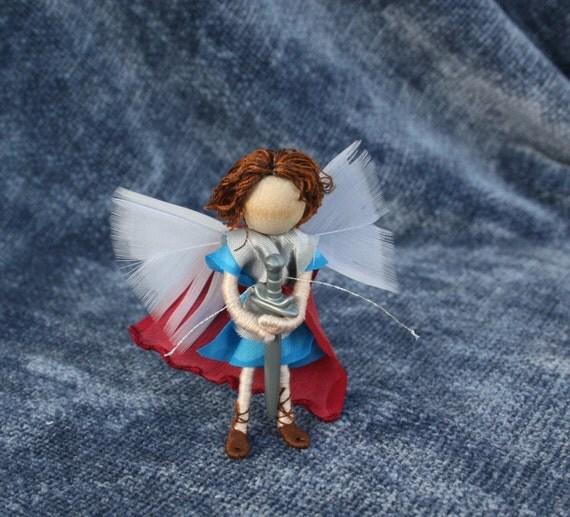 St. Michael Bendy Doll,  Roman Soldier,  Waldorf doll, Art Doll, Michaelmas, Archangel