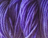 Sea Purple Worsted Weight Hand Dyed Merino Wool Yarn