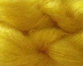 Mohair Yarn in Flower Yellow Fingering Weight