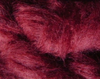 Mohair Yarn in Burgundy Wine Red Fingering Weight