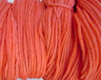 Little Orange Worsted Weight Hand Dyed Merino Wool Yarn
