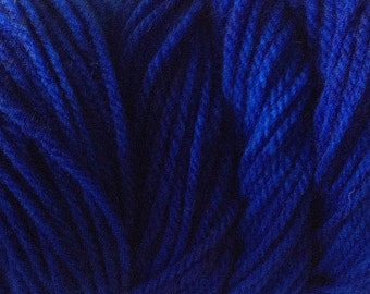 True Blue Worsted Weight Hand Dyed Merino Wool Yarn