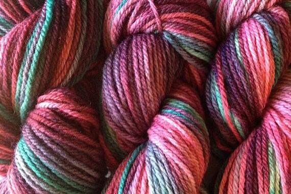 Merino Wool Yarn DK Sport Weight Handpainted Hand Dyed in Desert Cactus