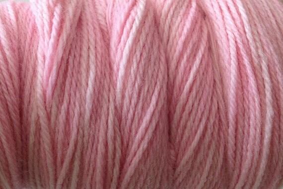 Girlie Pink DK Sport Weight Hand Dyed Merino Wool Yarn