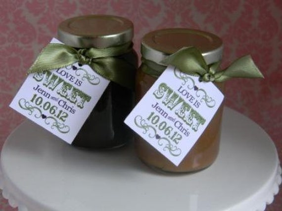 Mini Salted Caramel Sauce Jar Favors (reserved for Chrissy)