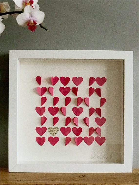 Personalized Love Hearts Framed Picture - Pink
