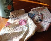 super fun vintage cutter quilt pieces...what will you make today