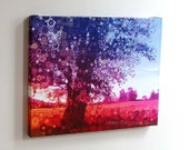 WILD.WOODS...16X20 gallery wrap canvas vermont photograph fall autumn tree purple pink fractals psychedelic trippy art