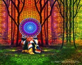 Onawa...16x20 matted fine art giclee print / mixed media photo collage