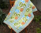 Baby Quilt, Lap Quilt, Monaco by Monaluna - Organic Cotton Fabric
