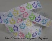 3/8 CUPCAKES Birthday Printed 5 YARDS YD. YDS. Grosgrain Ribbon Hair Bow Hairbow Supplies Scrapbook Clips Clippies Clippys