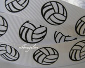 7/8 VOLLEYBALL Sports PRINTED Grosgrain Ribbon 5 yards Hair Bow Scrapbook CRAFT sewing scrapbooking Hair Bows suppliesFrom ribbonsgalore
