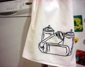 aerosol cans towel