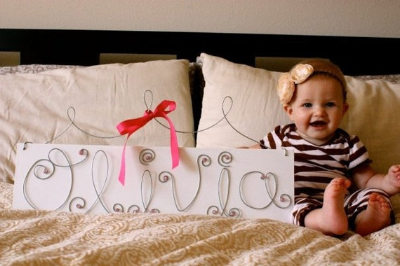 Personalized Wire Name Signs - Large