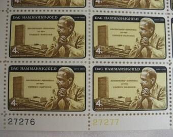 Scott #1203 US Dag Hammarskjold Postage Stamp Sheet Error 1962