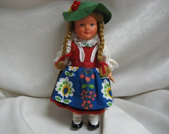 "Vintage German Celluloid Doll Celluloid Little Vintage Antique 6.5"" German Doll Marked MW Germany"