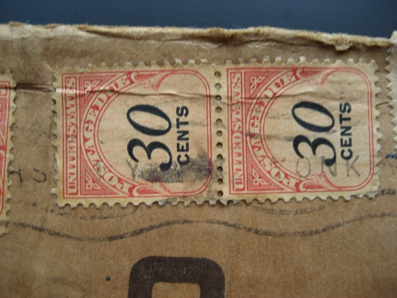 US Postage Due 5 and 30 Cent Scott No. J93 and J98 1959 Yonkers, NY Cancelled