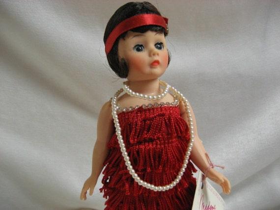 "Fun Little Red Dress Flapper No. 1118 From  Madame Alexander Dolls 10""  MIB 1988 - 1991 Portrettes"