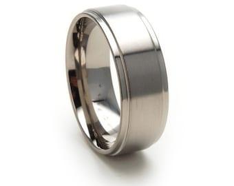 New 8mm USA Made, Custom Titanium Ring: 8RC-B
