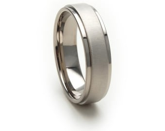 New 6mm Comfort Fit Ring, Custom Titanium Jewelry: 6RC-XB