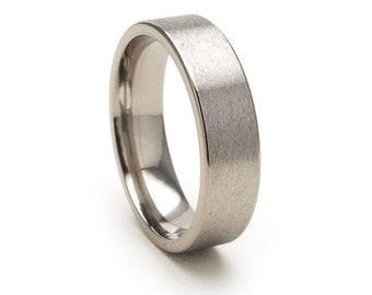 New 6mm Comfort Fit, Custom Titanium Ring: 6F-ST