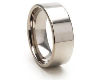 New 8mm USA Made, Custom Titanium Ring,8F