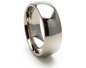 New 8mm USA Made Jewelry, Custom Titanium Ring: 8HRP
