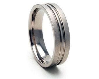 New 6 mm Titanium Ring-6FCPXB-PI