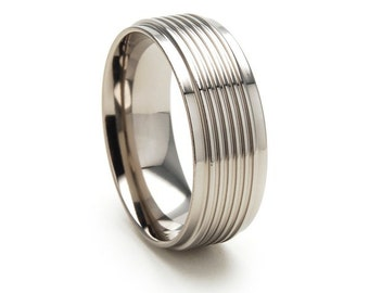 New 8mm Comfort Fit, Custom Titanium Ring, 81S5.5SVGBRT