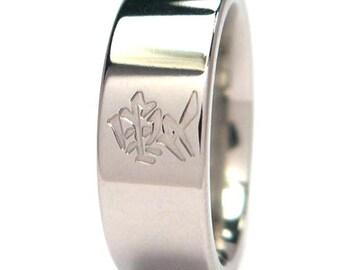New Kanji Titanium Ring - Love - Jewelry, Bands: 7F-P-KLove
