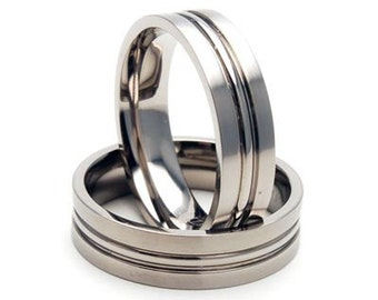 New 6 MM Titanium Wedding Band Comfort Fit Ring-6FCP-B-HK