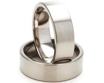 New 7mm Comfort Fit Jewelry, Custom Titanium Ring:  7F-B