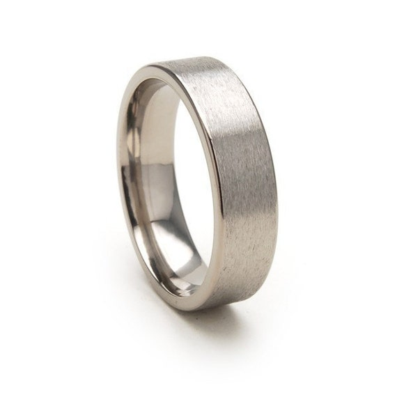 New 6mm Comfort Fit, Custom Titanium Ring: 6F-ST