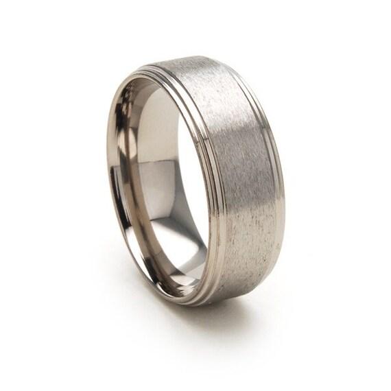New 8mm - Titanium Ring-82SF-ST