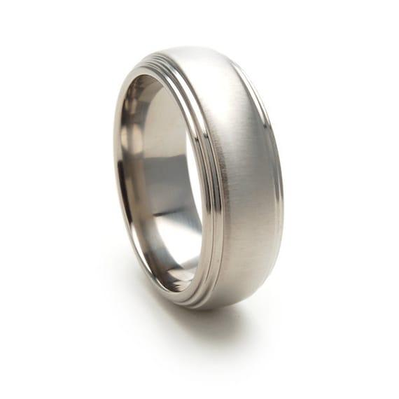 New 8mm USA Made, Custom Titanium Wedding Ring-82SDSSNBRT