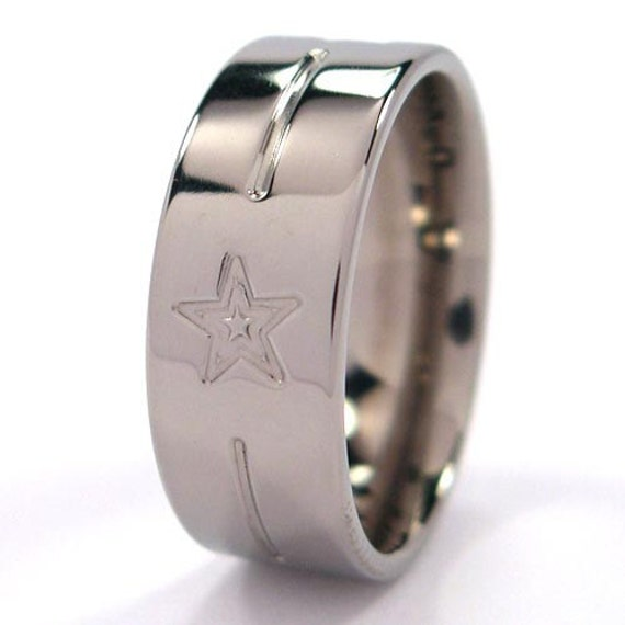 New Comfort Fit Titanium Ring, Free Band Sizing 4-17, Milled Jewelry