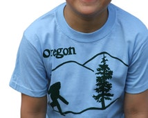 Bigfoot. sasquatch. Youth T Shirt. Oregon state tees. Great gift for him and her. Finding bigfoot. Animal. Pacific northwest bigfoot.