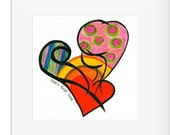 10x10'' Matted ART Print : Love's First Look