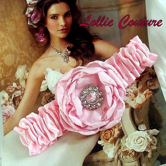 Pink wedding garters, blue garters, ivory garters, bridal garter set