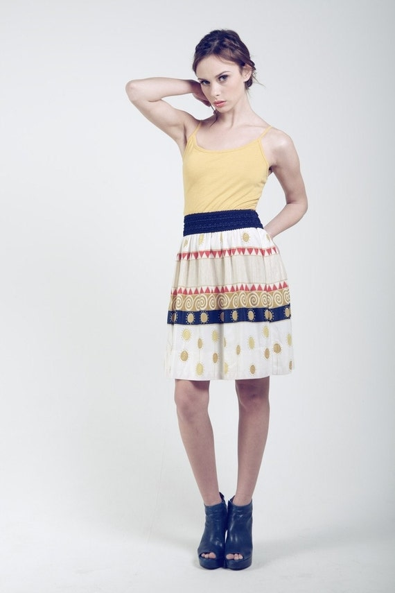 Upcycled Modern Meets Vintage Multi-colored Sundress