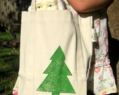 SALE - 50% OFF - Organic Cotton Christmas Tote - small