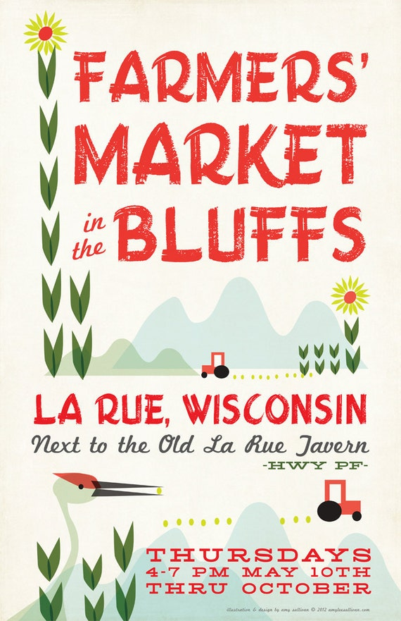Wisconsin Farmer's Market Poster