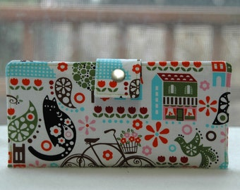 Wallet clutch womens   Handmade wallet in paris on white