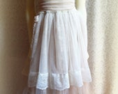 """Ivory Cream Champagne Chantilly Lace Altered Slip  Vintage Inspired Wedding Dress """"Sarah"""""""