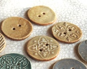 Special Order for Nancy--5 Large Ceramic Buttons