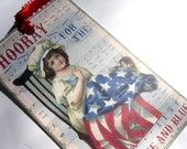 Christmas In July Sale 20% Off BNS Code Does Not Apply Patriotic Tags Vintage Style 4th of July  Set of 6