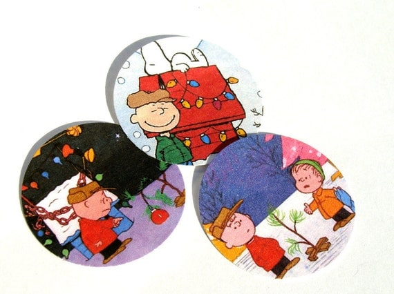 Classic Christmas Stickers Or Envelope Seals Featuring The Bald Boy And His Dog Set of 22