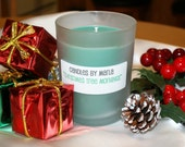 CLEARANCE - CHRISTMAS TREE MORNINGS - all natural soy wax candle in 6oz round frosted jar (Holiday Scent)