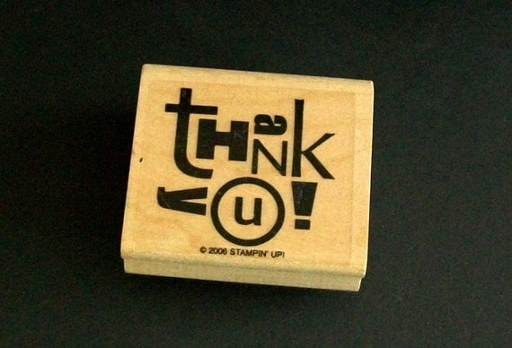 Thank You Rubber Stamp - Stampin Up